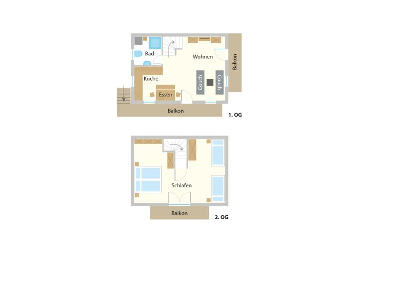 Grundriss 1. und 2. Etage