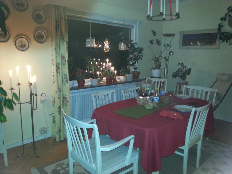 Diningroom during Christmas