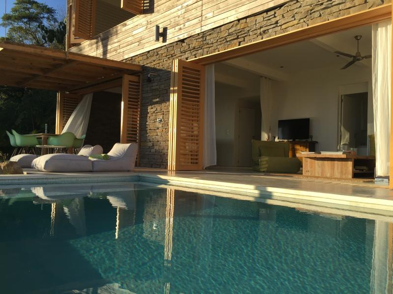 View from the villa with private pool