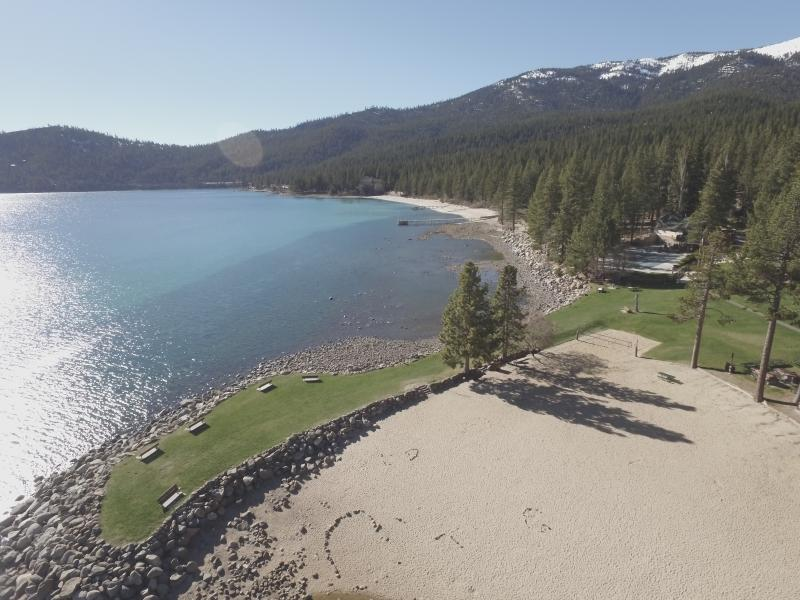 Burnt Cedar private beach. All guest get access passes to the 3 private beaches. heated pool!
