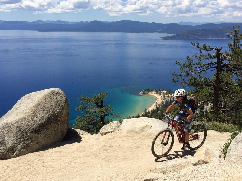 World class mountain biking along the tahoe rim. Ride from the unit to the Flume!