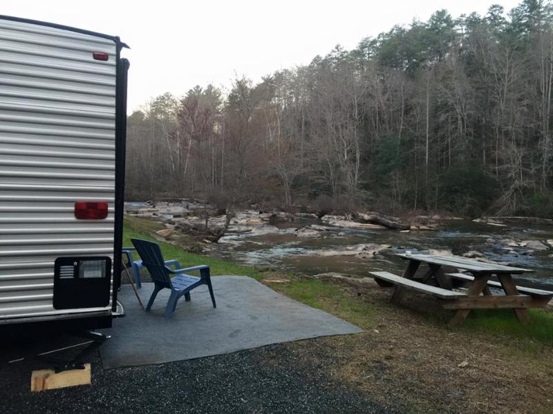River Side camping on the Tallulah River