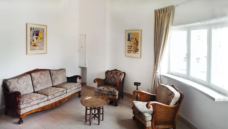 Living room with a small Balcony