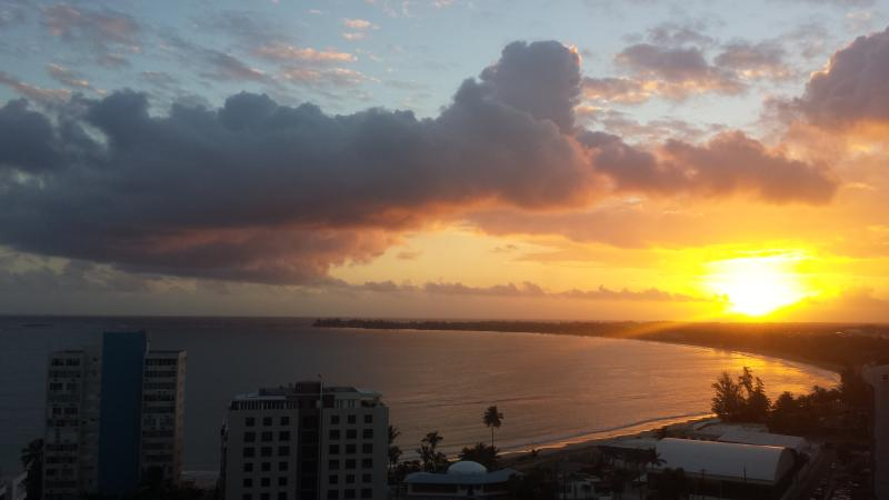 The sunrise from your balcony