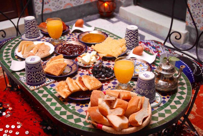 A delicious Moroccan breakfast