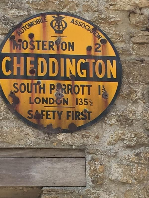 Old sign in Cheddington