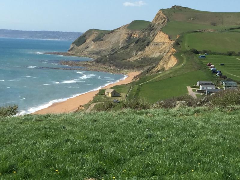 Cliff top walk near West Bay