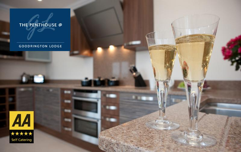 Super luxury kitchen in granite with everything you might need including a flat screen TV!