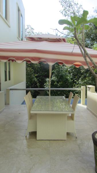 Property Terrace with Pool Near Pool