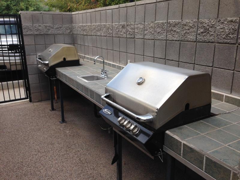 Community BBQ grill