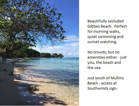 Secluded and beautiful Gibbes Beach, just around the headland from Mullins Beach