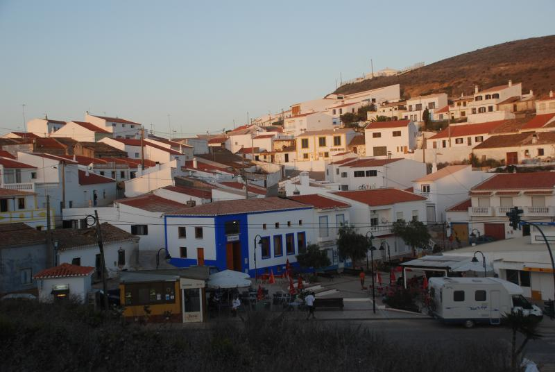 Square of the village with its bars, restaurants and shops