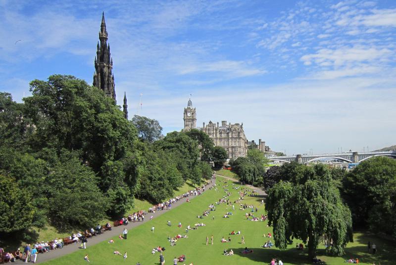 Princes Street Gardens (East), showing the Scott Monument (15 mins walk)