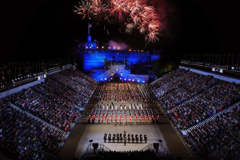 Edinburgh Castle - Military Tattoo (A 25min walk)