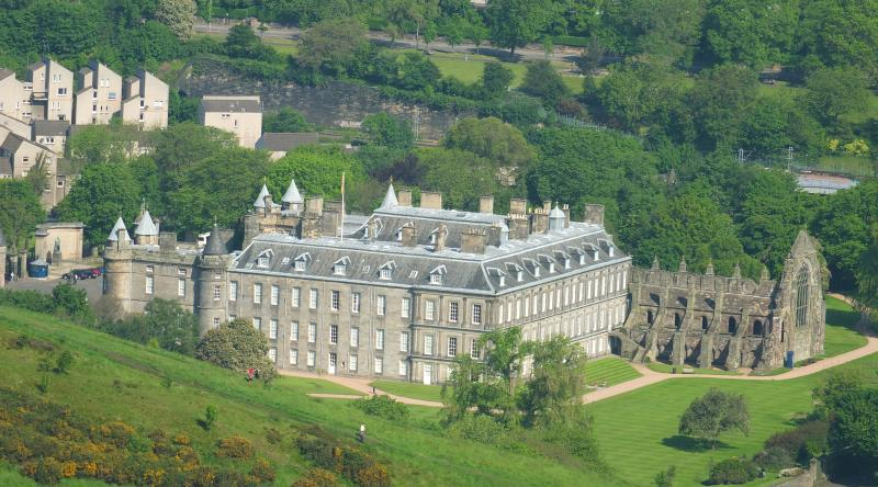 Holyrood Palace (our neighbour's accommodation!). A 5min walk from the flat