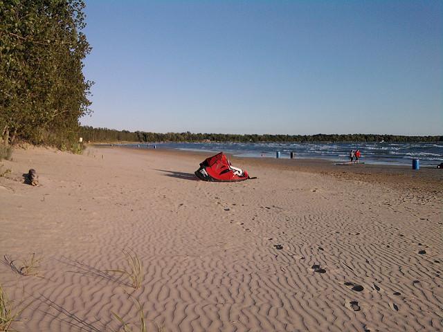 Kite surfar em Hourtin-Port