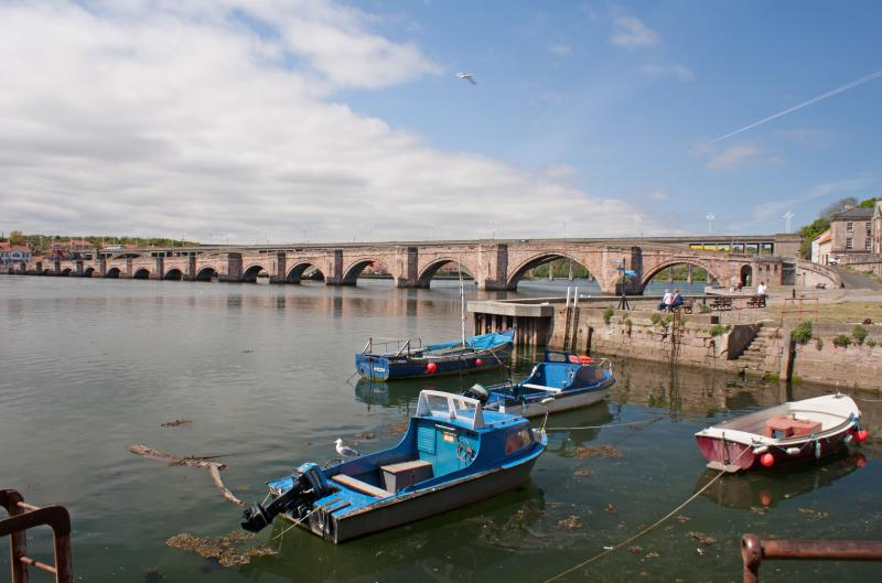 The Old Bridge in Berwick-upon-Tweed. Berwick has many interesting places to see
