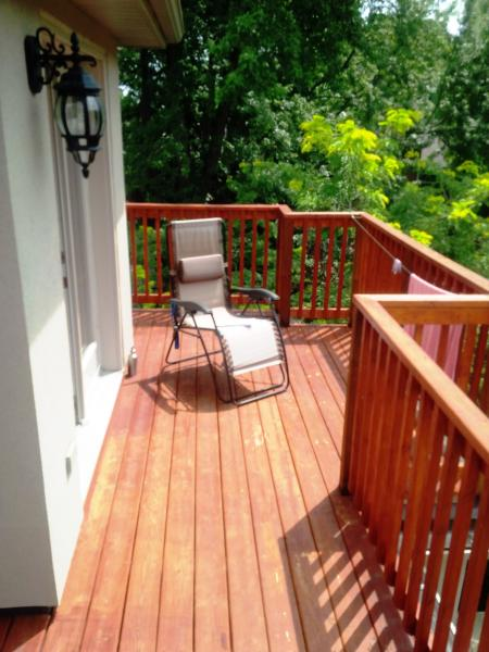 Deck off the Master BR - third floor