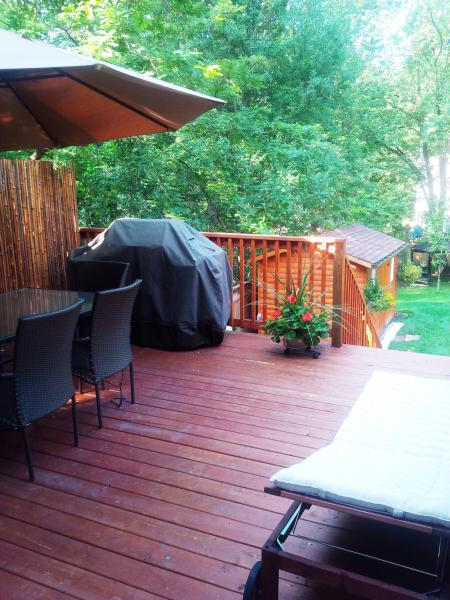 Spacious deck with BBQ,  perfect for entertaining