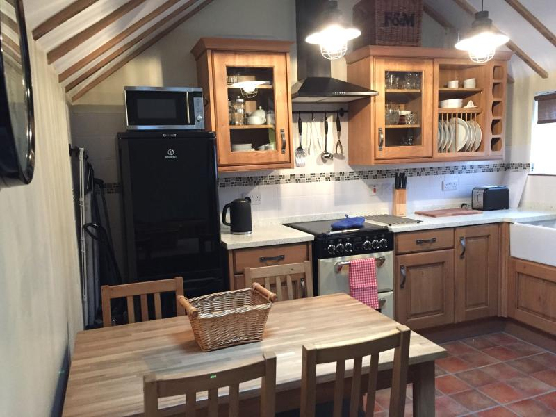 Kitchen/Diner, with seating for 4 people plus space for a highchair.  Fully-equipped.
