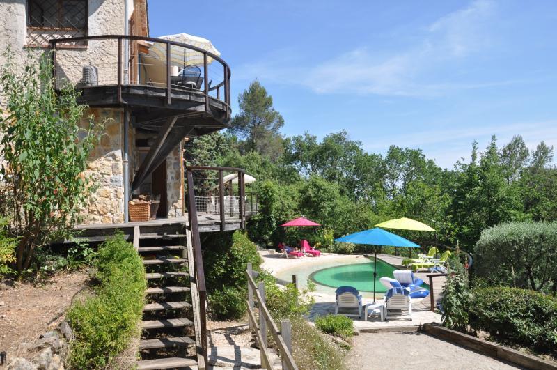 Geräumiges Ferienhaus, großes Grundstück und Pool, location de vacances à Tourrettes-sur-Loup