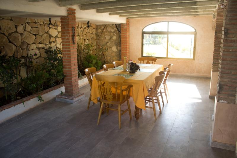 Planted dining room with garden views