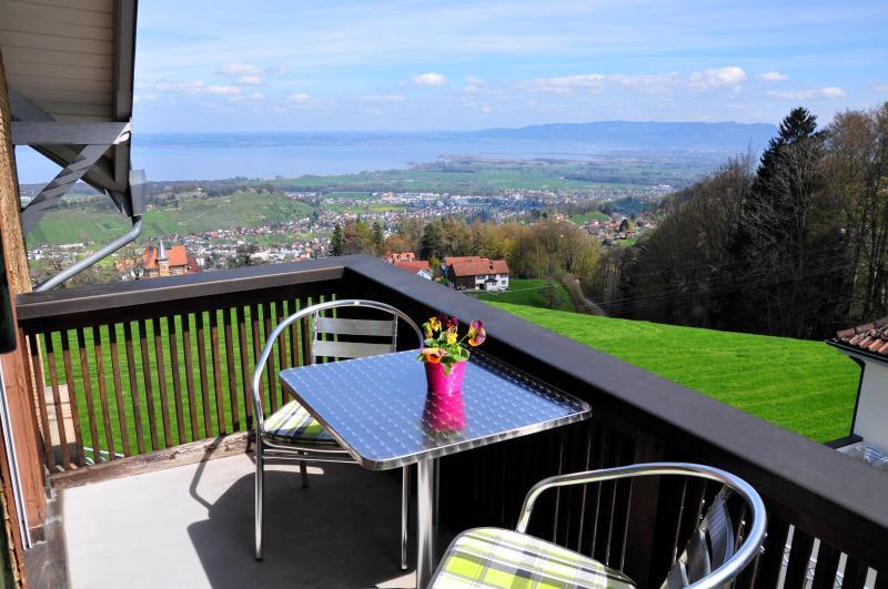 Helle Ferienwohnung mit Blick auf Bodensee, holiday rental in St. Gallen