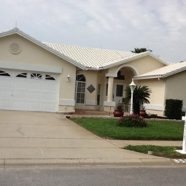 Front of house, parking in driveway only