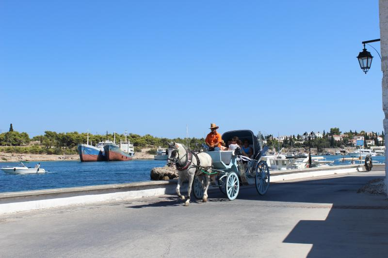 Spetses island view