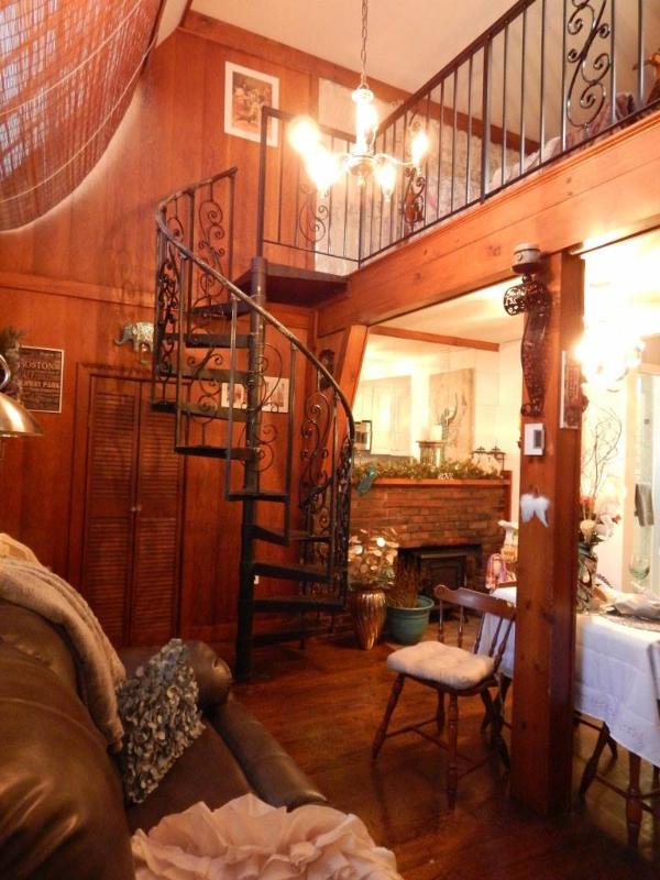 Spiral Stair Case to Bedroom Loft
