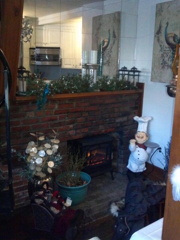 Original Brick Fireplace