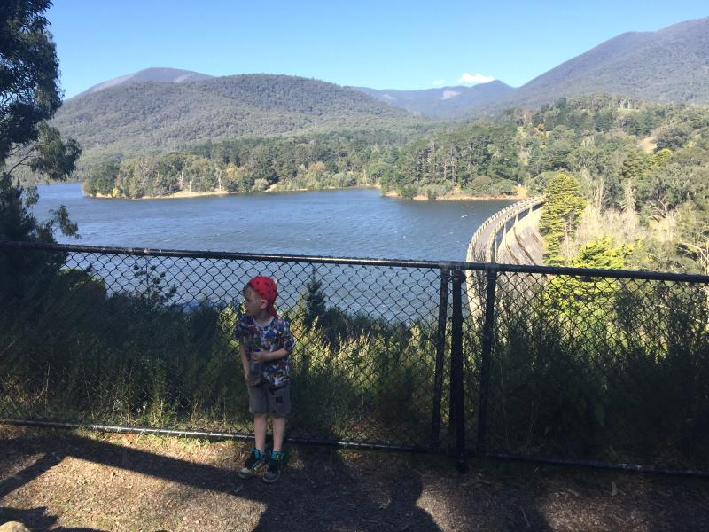 Maroondah Dam- Melbournes water catchment nearby.