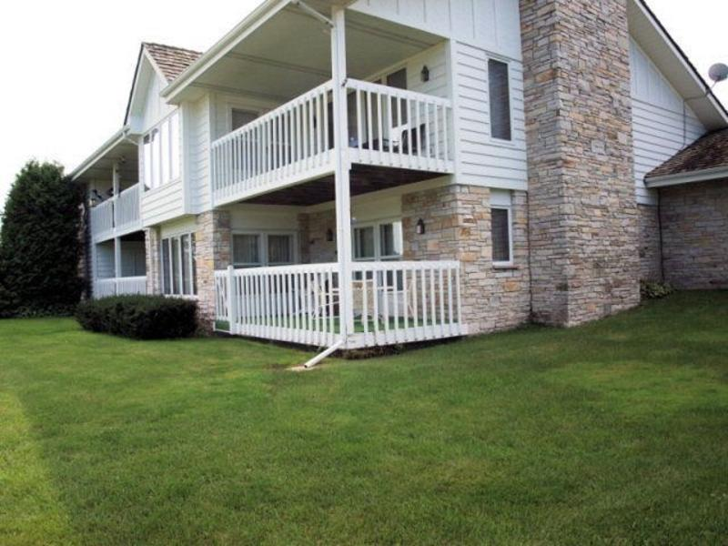 Two story condo with two covered decks