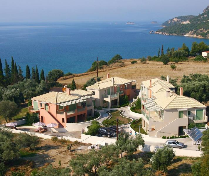 Overhead view of the Ionian Nest...5 minutes from the beach of Pogonia
