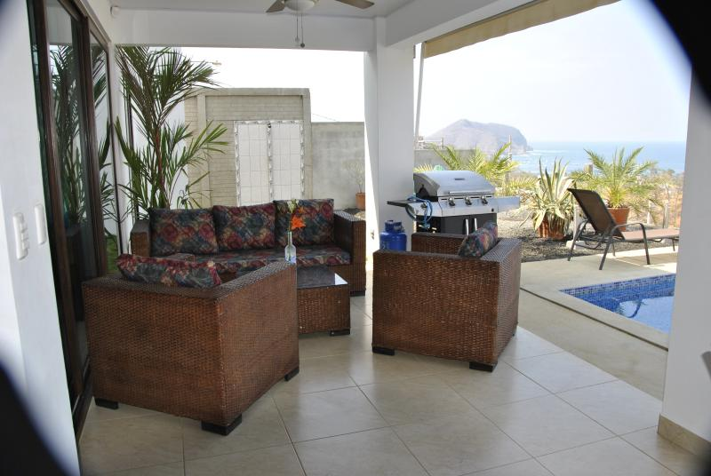Terrace, barbecue area.