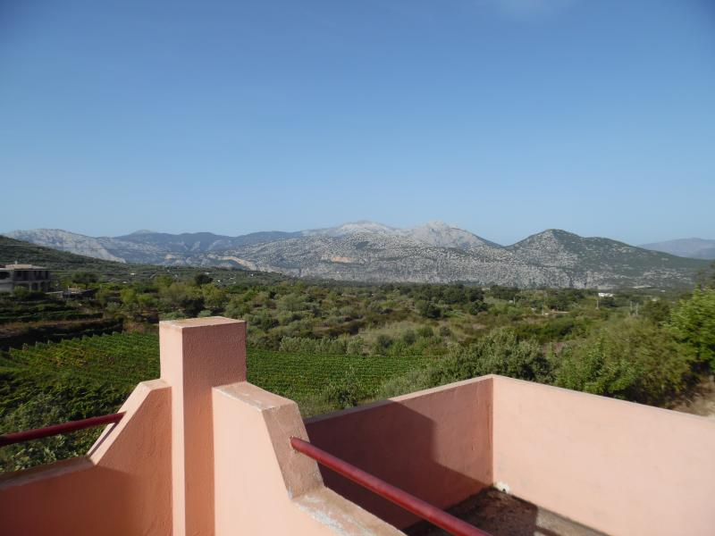 The view from the small terrace of the bedroom 3