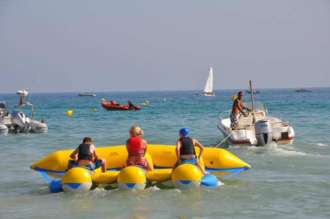 Watersports on the beach