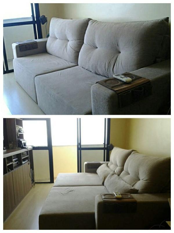 Sofa cama super confortável na sala com TV full HD de 55  e tv a cabo com Homer e internet 200 mega