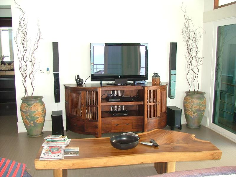 A complete home theater, along with DVD and Satellite TV on a 42' screen