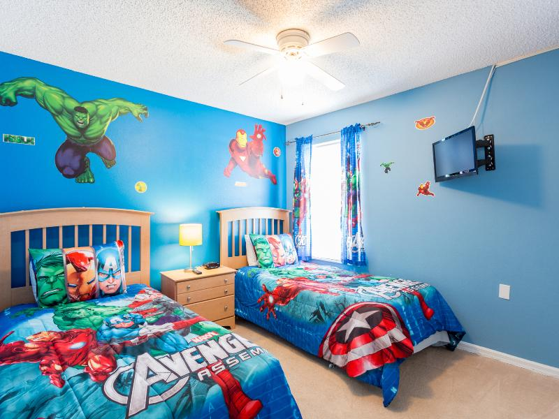 Boy's Twin Bedroom on the Upper Level