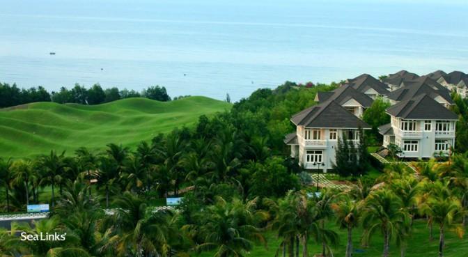 Ocean View with a golf course next door
