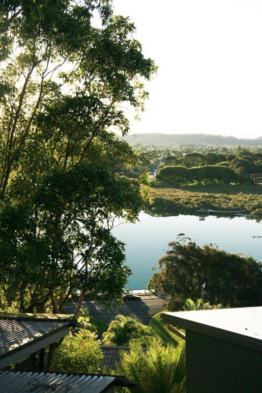 view from bedroom deck down to Currumbin Creek