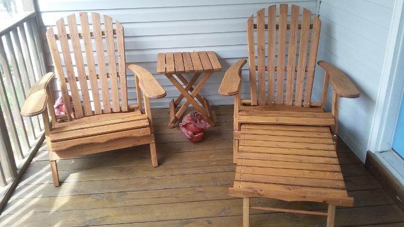 Patio chairs to relax