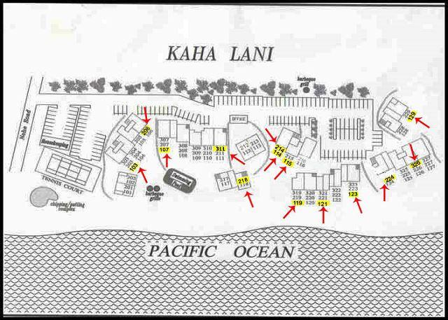 Kaha Lani Resort site map