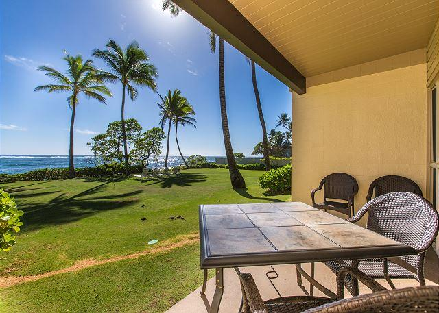 Covered Lanai with Ocean Views