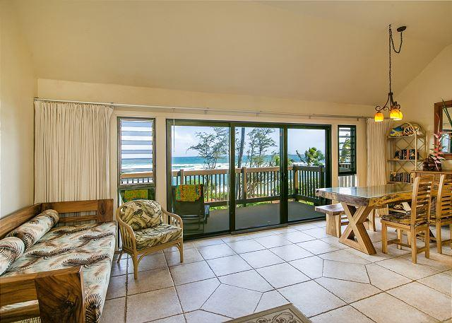 Living and Dining Area with Beautiful Ocean Views