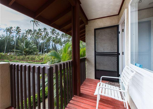 Coconut Grove, front lanai entry.  2nd floor end unit
