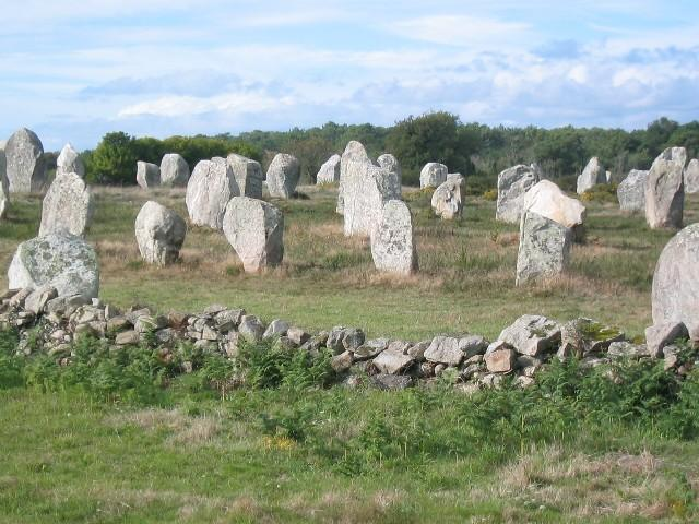Megalithic stones at Carnac