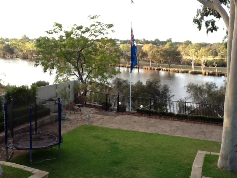 View of the river from the master bedroom