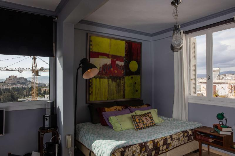 Blind Wall Bed with Art
